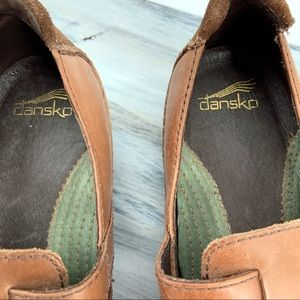 Dansko Shoes - Tan Leather Mary Jane Double Buckle Dansko's 36